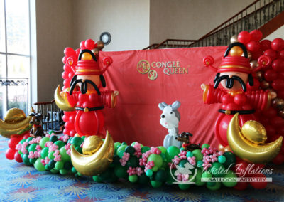Balloon Chinese New year of Dog Photo Booth Money god